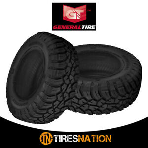 2 New General Grabber X3 35 12 5 R20 121q Off Road Max Traction Tire