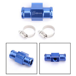 22mm Water Temperature Joint Pipe Sensor Gauge Radiator Hose Adapter Kit Blue Ua