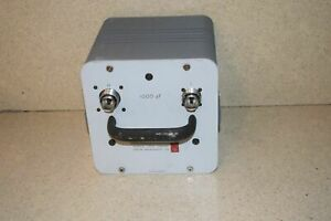 ^^ GENERAL RADIO GENRAD TYPE 1404-B 100 PF REFERENCE STANDARD CAPACITOR (L12) $862.50