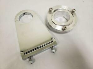 Universal 2 Swivel Base Floor Mount 5 1 2 Chrome Steering Column Drop Kit