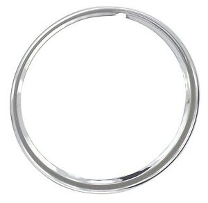 15 Chrome Stainless Steel Hot Rod Style Smooth Beauty Rings Trim Ring