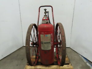 Ansul 150 c Steel Wheeled B C Dry Chemical Fire Extinguisher
