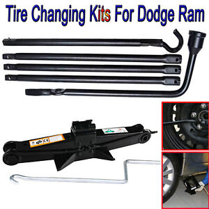 Tire Repair Kits Tools For Dodge Ram Lug Wrench Extension Segments Scissor Jack