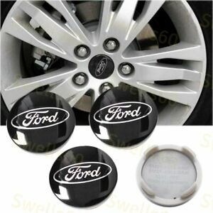 4x Black Wheel Hub Center Caps Ford Cp9c 1a096 Aa C Max Edge Focus Fiesta Fusion