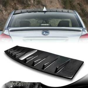 Real Carbon Fiber Shark Fin Rear Roof Spoiler Wing For 2015 2018 Subaru Wrx Sti