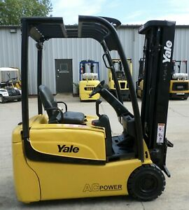 Yale Erp035vt 2014 3500 Lbs Capacity Great 3 Wheel Electric Forklift