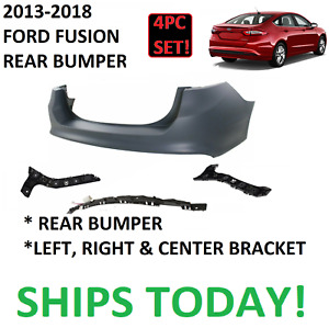 2013 2014 2015 2016 2018 Ford Fusion Rear Bumper Cover New With Brackets