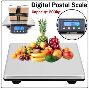 200kg 50g Digital Shipping Postal Scale Weight Postage W adapter Kg lb oz lb