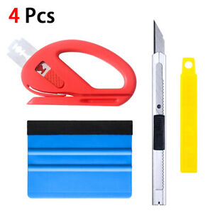 4pcs Car Window Tint Film Wrapping Vinyl Tools Squeegee Scraper Applicator Kits