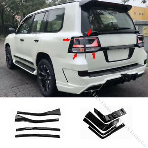 Glossy Black Rear Taillight Molding Trim Strips For Toyota Land Cruiser 200 16up