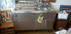 Vintage Stainless Steel Soda Fountain Weber Soda Dispenser Table Sink Bar