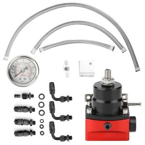 0 160psi Universal Oil Gauge Fuel Pressure Regulator Kit Comes With An6 Fittings