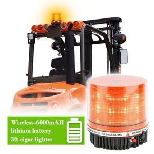 Amber Rooftop Emergency Warning Strobe Beacon Light Flash Security Rotating