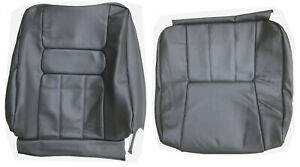 Front Seat Cover Upholstery Volvo 940 960 Sedan Wagon Black Gray Leather 1991 95
