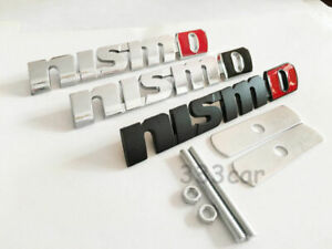 New 3d Metal Nismo Grill Badge Front Emblem Grilles Black Or Silver For All Cars