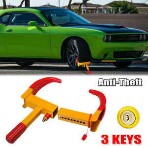 Wheel Lock Clamp Boot Tire Claw Adjustable Heavy Duty Car Anti Theft Towing Us