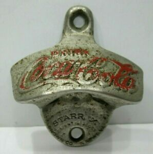 Coca Cola Star X Bottle Opener Wall Mount Made in the USA Vintage