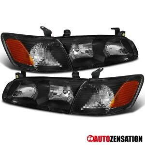 For 2000 2001 Toyota Camry Black Headlights corner Signal Lamps Left right 00 01