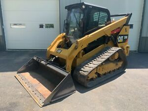 2014 Cat 299d Track Skid Loader 2 speed Heat A c Camera Radio Quick Attach