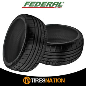 2 New Federal 595rpm 225 40zr19 93y Tires