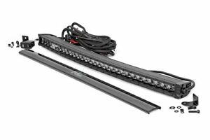 Rough Country 30 Curved Black Single Row Cree Led Light Bar W Drl