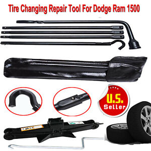 Full Size Spare Tire Kit Tools Repair Kits Set For Dodge Ram 1500