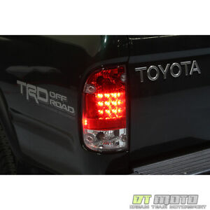 For 1995 2000 Toyota Tacoma Lumileds Led Red Clear Tail Lights 95 00 Left right