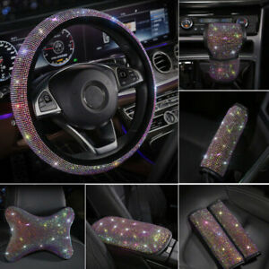 Car Rhinestone Steering Wheel Covers Auto Interior Accessories Car Styling