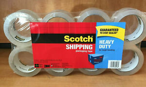Scotch 8 Pack Packing Tape Heavy Duty 1 88 X 54 6 Yards