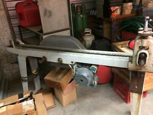 1hp Hand Drawing Machine For Shaping Wire And Tubing Used But Functional