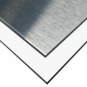Aluminum Composite Sheet 0 236 6mm X 24 X 48 Brushed Aluminum white