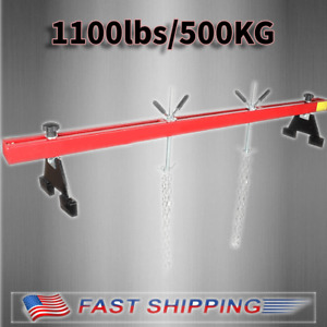 Red Engine Load Leveler 1100lbs Capacity Support Bar Transmission W Dual Hook