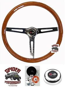 1967 Corvette Steering Wheel Crossed Flags 15 Muscle Car Wood