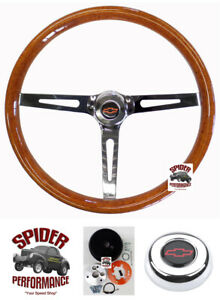 1969 1981 Camaro Steering Wheel Red Bowtie 15 Muscle Car Wood
