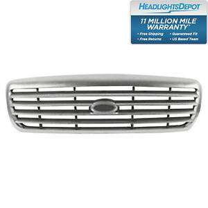 Front Grille Chrome Fits Ford Crown Victoria 1998 2011 Fo1200346