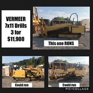 Vermeer 7x11 Directional Drill 3 For 11 900 Miles Equipment Sales