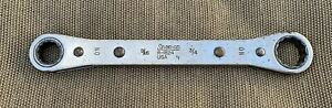 Vintage Snap On Tools 9 16 X 3 4 Ratcheting Box Wrench R 1824