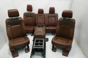 2011 2016 Ford F250 King Ranch Seat Set With Console Front Rear