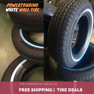 Set Of 4 Suretrac White Wall Tires Power Touring 175 75r14 0 8inch Wsw
