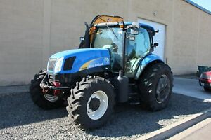 2008 New Holland T6030 Diesel Tractor 4x4 W Us Mower Articulating Flail Mower