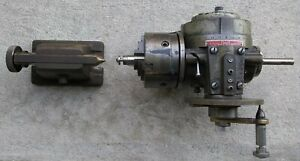 Ellis Dividing Head With Buck Chuck And Tailstock Made In Usa
