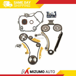Timing Chain Kit Balance Shaft Cover Gasket Fit 00 11 Gm 2 2l 2 4l Ecotec
