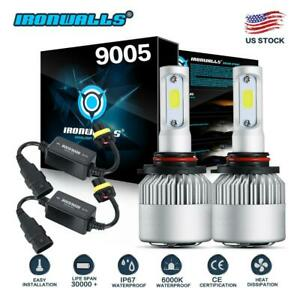 Pair 9005 Hb3 2000w 300000lm Led Headlight Kit Fog Bulbs 6000k canbus Decoder