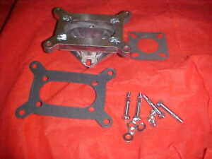2 Barrel To 1 Barrel Carburetor Adapter Jeep Chevy And Ford For Large Holley Etc