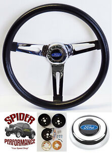 1963 1964 Galaxie Fairlane Steering Wheel Blue Oval 13 1 2 Muscle Car