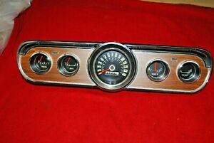 66 Mustang Gt Show Quality Instrument Cluster Rebuilt And Tested Completely