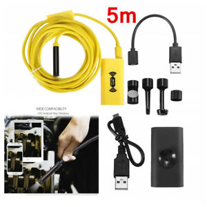5 8mm Wifi Endoscope Borescope Inspection Camera Ip68 Fits Phone Android Ios