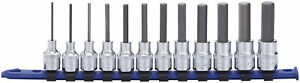 Carlyle Tools By Napa Bsh3812m 12 Pc 3 8in Dr Metric Hex Bit Socket Set