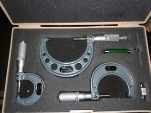 Mitutoyo Outside Micrometer Set 0 3