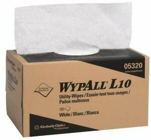 Wypall Dry Shop Towel industrial Wipes Pop up 10 1 2 X 9 Sheet Size White